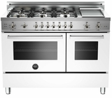 "PRO486GGASBI01 Bertazzoni Professional Series 48"" All Gas Range with 6 Burners, Double Oven and Griddle - White"