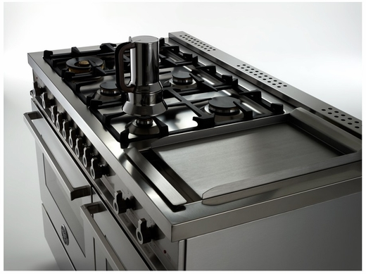 PRO486GGASGI01 Bertazzoni Professional Series 48 All Gas Range With 6 Burners Double Oven And Griddle