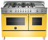 "PRO486GGASGI01 Bertazzoni Professional Series 48"" All Gas Range with 6 Burners, Double Oven and Griddle - Yellow"