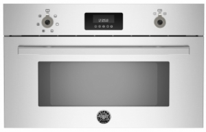 """PROCS30X Bertazzoni 30"""" Steam Oven with 1.34 Cu. Ft. Capacity Convection Cook System Broiler Option - Stainless Steel"""