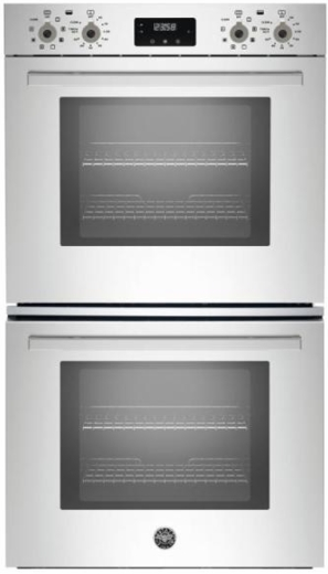 "PROFD30XV Bertazzoni 30"" Professional Series Electric Double Wall Oven with 4.1 cu. ft. Capacity Per Oven Dual Diagonal Convection and Intuitive Controls - Stainless Steel"