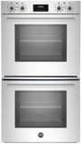 """PROFD30XV Bertazzoni 30"""" Professional Series Electric Double Wall Oven with 4.1 cu. ft. Capacity Per Oven Dual Diagonal Convection - Stainless Steel"""