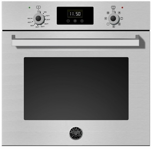 "PROFS24XV Bertazzoni 24"" Single Electric Wall Oven with 2.3 cu. ft. Capacity with European Convection and LED Display - Stainless Steel"