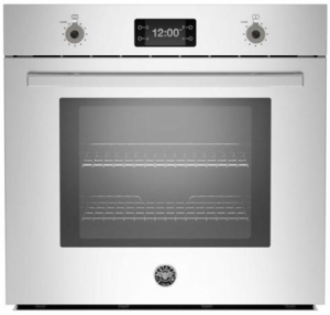 "PROFS30XT Bertazzoni 30"" Single Electric Wall Oven with 4.1 cu. ft. Capacity Dual Diagonal Convection - Stainless Steel"