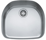 "PRX11021 Franke 20"" Prestige Series Single Bowl Undermount Kitchen Sink - Stainless Steel"