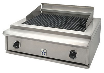"""PRZIDCB30V2N BlueStar 30"""" Indoor Charbroiler - Natural Gas - Stainless Steel"""