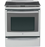 """PS920SFSS GE Profile Series 30"""" Slide-In Electric Convection Range with Warming Drawer - Stainless Steel"""