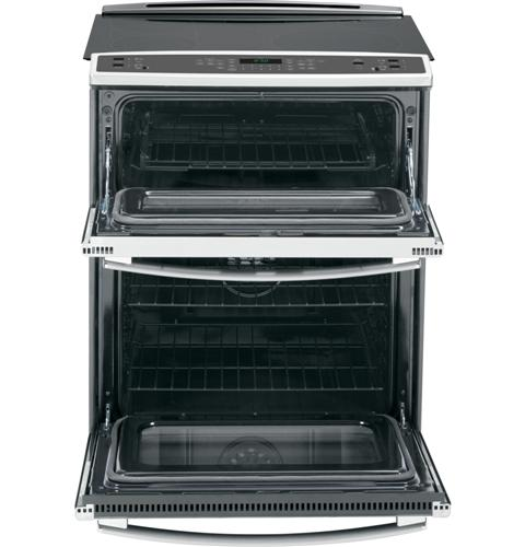 "PS950SFSS GE Profile Series 30"" Slide-In Double Oven Electric 6.6 Cu. Ft. Convection Range - Stainless Steel"