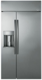 "PSB48YSKSS GE Profile Series 48"" Built-In Side-by-Side Refrigerator with Dispenser - Stainless Steel"