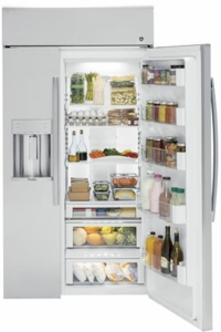 """PSB48YSKSS GE Profile Series 48"""" Built-In Side-by-Side Refrigerator with Dispenser - Stainless Steel"""