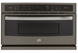 """PSB9120EFES GE 30"""" Profile Series Advantium Built-In Single Wall Oven with Halogen Heat and 1.7 cu. ft. Capacity - Slate"""