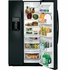 PSE25KGHBB GE Profile Series Energy Star 25.4 Cu. Ft. Side-by-Side Refrigerator with Hidden Hinges - Black