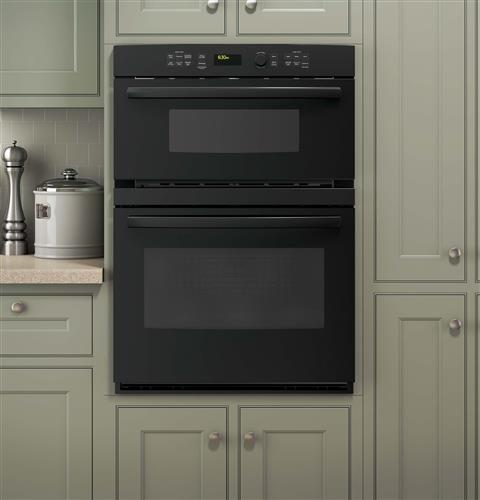 """PT7800DHBB GE Profile Series 30"""" Built-In Combination Convection Microwave/Convection Wall Oven - Black"""