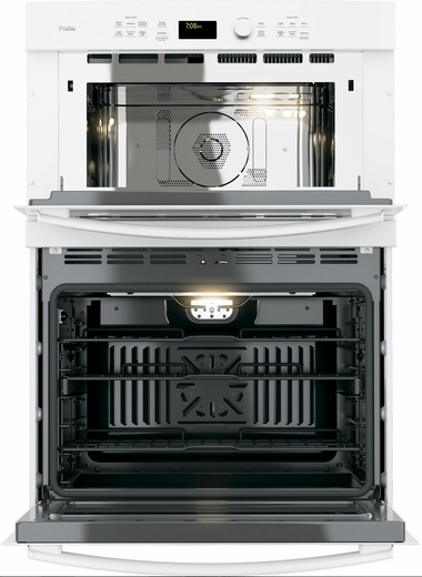 """PT7800DHWW GE Profile Series 30"""" Built-In Combination Convection Microwave/Convection Wall Oven - White"""