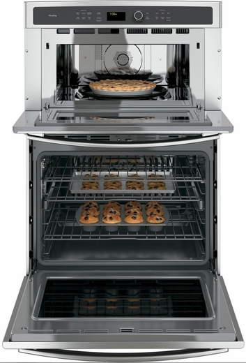 "PT7800SHSS GE Profile Series 30"" Built-In Combination Convection Microwave/Convection Wall Oven - Stainless Steel"