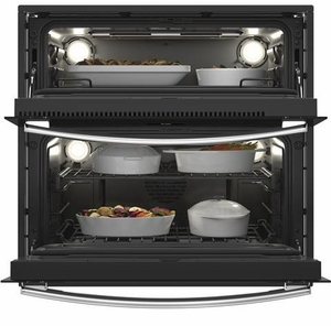 PT9200SLSS GE 30 Profile Series Built-In Twin Flex Wall Oven with True European Convection and Rapid Preheat - Stainless Steel