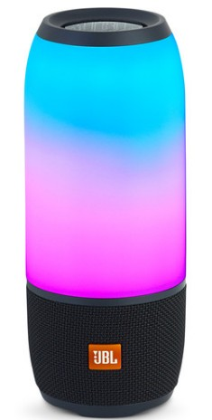 PULSE3BLK JBL Portable Bluetooth Speaker with Customizable Lightshow and Voice Assistant Integration - Black