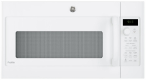 """PVM9179DKWW GE 30"""" Profile Series 1.7 cu. ft. Convection Over-the-Range Microwave with 950 Watts, Chef Connect and Sensor Cooking Controls - White"""