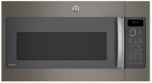 "PVM9179EKES GE 30"" Profile Series 1.7 cu. ft. Convection Over-the-Range Microwave with 950 Watts, Chef Connect and Sensor Cooking Controls - Slate"