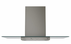 """PVW7361EJES GE 36"""" Wall-Mount Glass Canopy Chimney Hood with 350 CFM Venting System and Electronic Back Lit Controls - Slate"""
