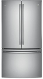 "PWE23KSKSS GE Profile 36"" Counter Depth 23.1 Cu. Ft. French Door Refrigerator with Internal Water Dispenser - Stainless Steel"