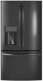 "PYE22KBLTS GE Profile 36"" 22.2 Cu. Ft. Counter-Depth French-Door Refrigerator with Hands Free Autofill - Black Stainless Steel"