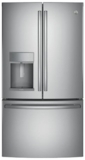 "PYE22KSKSS GE Profile 36"" 22.2 Cu. Ft. Counter-Depth French-Door Refrigerator with Hands Free Autofill - Stainless Steel"