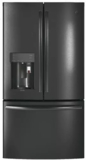 "PYE22PBLTS GE 36"" Profile Series Counter Depth French Door Refrigerator with 22.2 cu. ft. Capacity, Keurig K-Cup System and Smart Home Enabled with Wi-Fi - Black Stainless Steel"