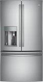 "PYE22PSKSS GE 36"" Profile Series Counter Depth French Door Refrigerator with 22.2 cu. ft. Capacity, Keurig K-Cup System and and Smart Home Enabled with Wi-Fi - Stainless Steel"