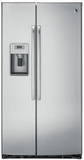 "PZS22MSKSS GE Profile 36"" Side-By-Side Counter Depth 22.1 Cu. Ft. Refrigerator with Quick Ice & LED Lighting - Stainless Steel"