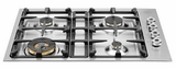 "QB30400X Bertazzoni Professional 30"" 4-Burner Low-Profile Gas Cooktop - Stainless Steel"