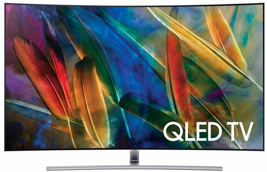 """QN65Q7C Samsung 65"""" Q Series Curved UHD 4K HDR QLED Smart HDTV with - 240 Motion Rate and 3840 x 2160 Resolution"""