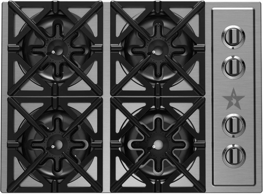 "RBCT304BSSV2 BlueStar 30"" Drop-In Natural Gas Cooktop - Stainless Steel"