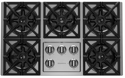 "RBCT365BV2 BlueStar 36"" Drop-In Natural Gas Cooktop - Stainless Steel"