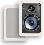 "RC55i Polk Audio 5.25"" Two-Way In-Wall Rectangular Loudspeakers (Pair) - White"