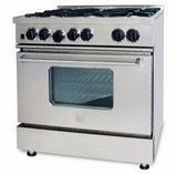 "RCS366BV2 BlueStar 36"" RCS Series Gas Range with 6 Open Burners and Infrared Broiler - Natural Gas - Stainless Steel"