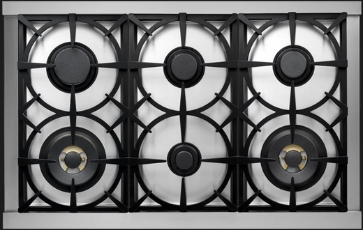"RD361GCNB Superiore 36"" DECO Gas Range with Classic Door and Extra Large Gas Oven - Black with Bronze Accent"