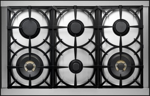 """RD361GCRC Superiore 36"""" DECO Gas Range with Classic Door and Extra Large Gas Oven - Red with Chrome Accent"""