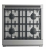 """RDV2304NN Fisher & Paykel 30"""" Dual Fuel Natural Gas Range with 4 Burners and LED Halo Control Dials - Stainless Steel"""