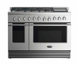 """RDV2486GDN DCS 48"""" Natural Gas Duel Fuel Range with 6 Burners and Griddle - Stainless Steel"""