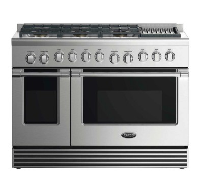 "RDV2486GLL DCS 48"" Liquid Propane Gas Duel Fuel Range with 6 Burners and Grill - Stainless Steel"