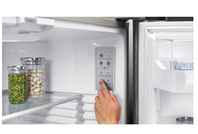 "RF170BLPUX6N Fisher & Paykel 32"" ActiveSmart Ice & Water Bottom Freezer Counter Depth Refrigerator with 17.6 cu. ft. Capacity and Freezer Tray - Left Hinge - Stainless Steel"
