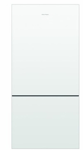 """RF170BLPW6 Fisher & Paykel 32"""" ActiveSmart Bottom Freezer Counter Depth Refrigerator with 17.6 cu. ft. Capacity and Freezer Tray - Left Hinge - White"""