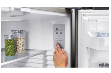 "RF170BLPW6N Fisher & Paykel 32"" ActiveSmart Bottom Freezer Counter Depth Refrigerator with 17.6 cu. ft. Capacity and Freezer Tray - Left Hinge - White"