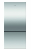 "RF170BLPX6N Fisher & Paykel 32"" ActiveSmart Bottom Freezer Counter Depth Refrigerator with 17.6 cu. ft. Capacity and Freezer Tray - Left Hinge - Stainless Steel"