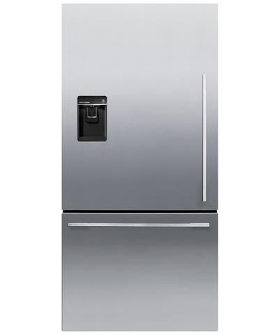 RF170WDLUX5N Fisher & Paykel ActiveSmart Fridge - 17 cu. ft. Counter Depth Bottom Freezer with Water Dispenser - Left Hinge - EZKleen Stainless Steel