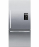 RF170WDRUX5N Fisher & Paykel ActiveSmart Fridge - 17 cu. ft. Counter Depth Bottom Freezer with Water Dispenser - Right Hinge - EZKleen Stainless Steel