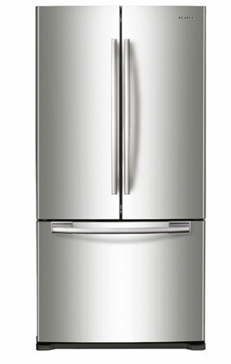 "RF18HFENBSR Samsung 33"" Wide 18 cu. ft. Capacity Counter Depth French Door Refrigerator - Stainless Steel"