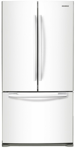 "RF18HFENBWW Samsung 33"" Wide 18 cu. ft. Capacity Counter Depth French Door Refrigerator - White"
