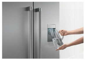 "RF201ACJSX1 DCS 36""  French Door Counter Depth Refrigerator with ActiveSmart Technology - Stainless Steel"